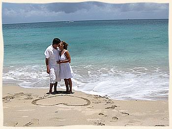 Kissing Couple On Bluebeards Beach