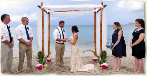 Wedding Arch For Beach In The Virgin Islands