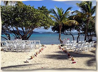 Island Beach Wedding Shire St Thomas